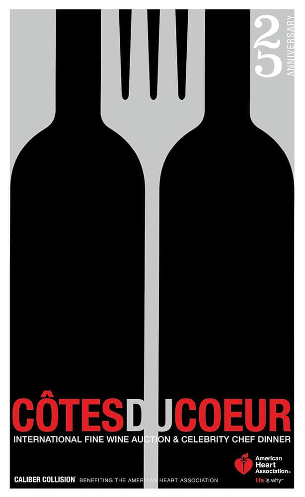 American Heart Association - Cotes du Coeur poster