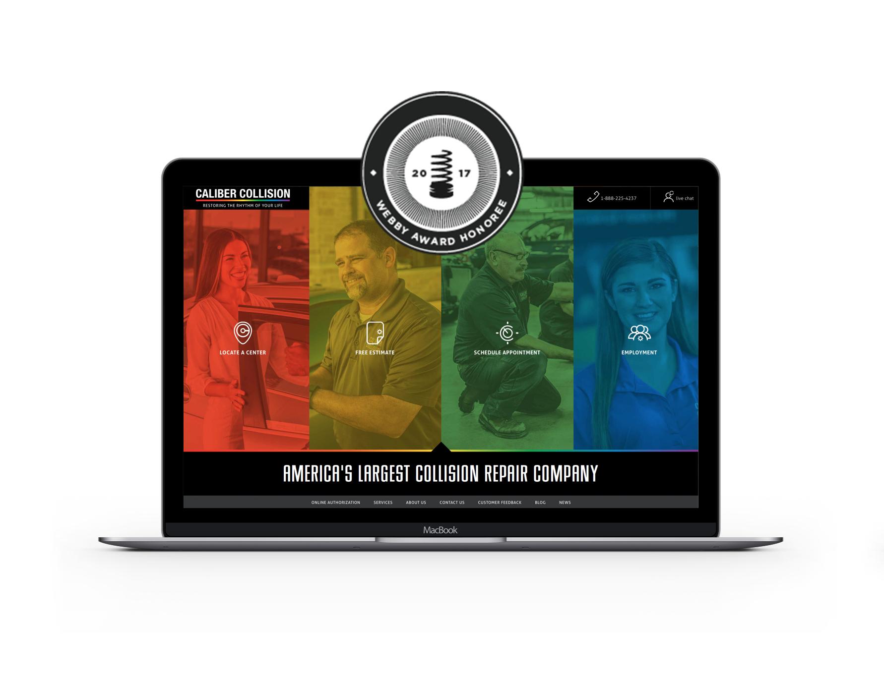 Caliber Collision Webby Award Honoree
