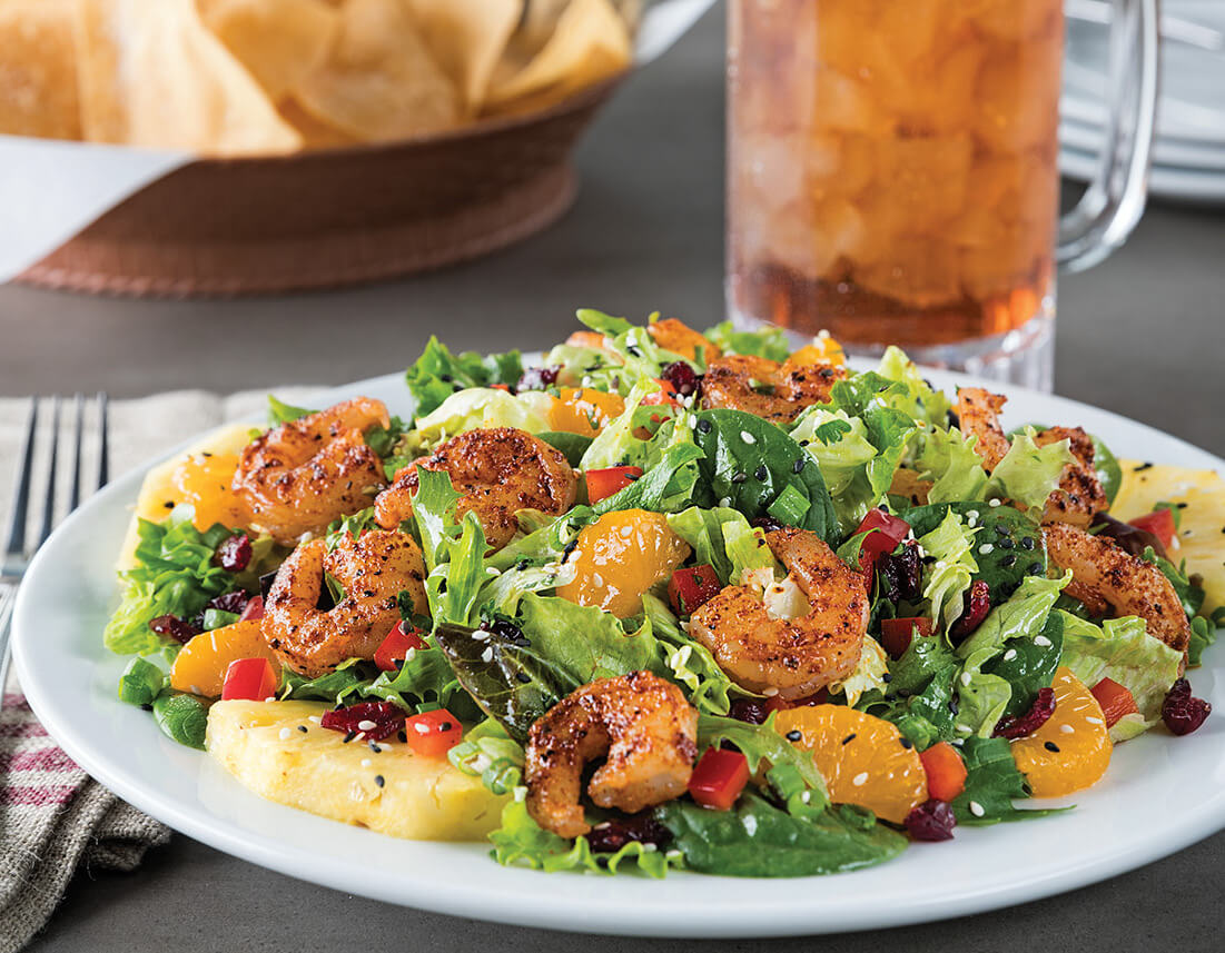 Chili's Caribbean salad shrimp - Fuze Tea