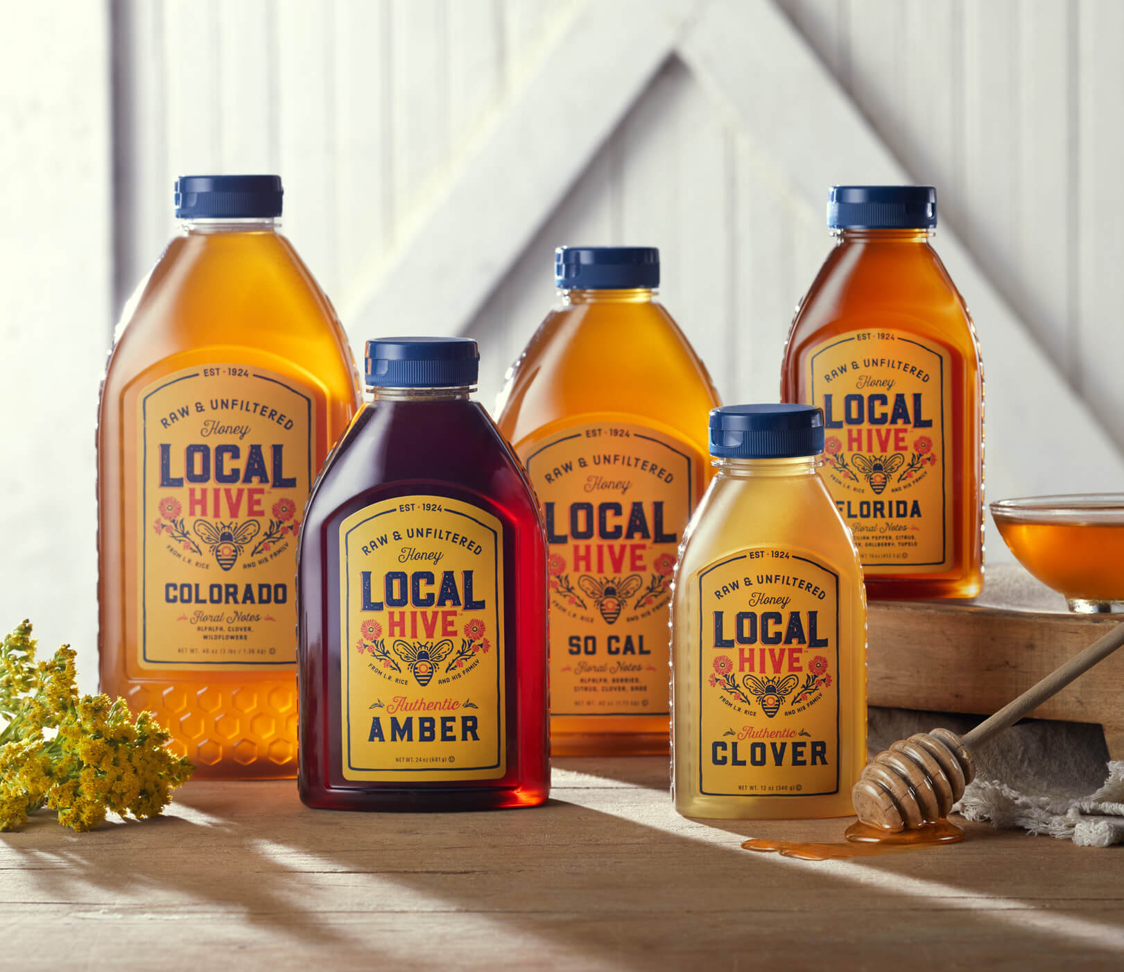 Local Hive bottles