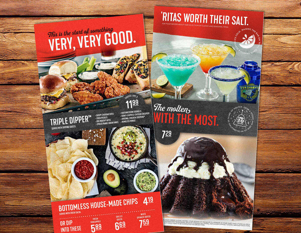 Chili's feature cards