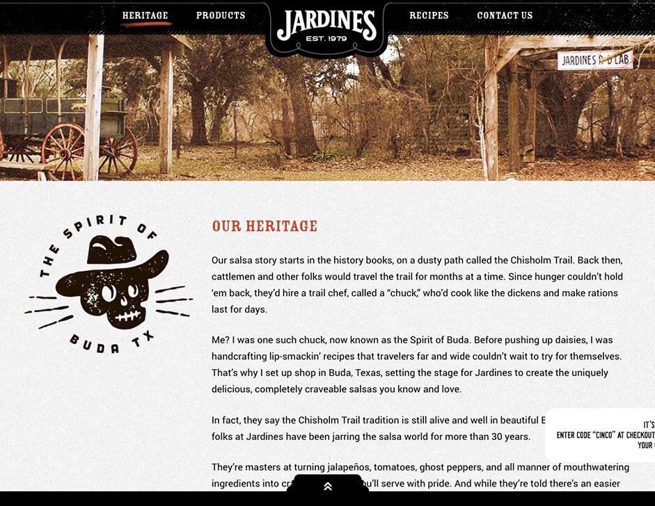 Jardines website