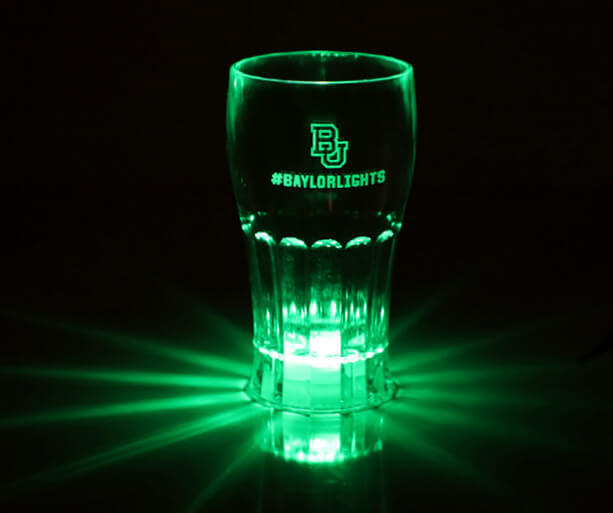 Baylor - Lights Shine Bright Dr. Pepper glass