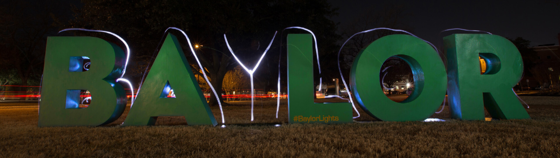 Baylor - Lights Shine Bright letters