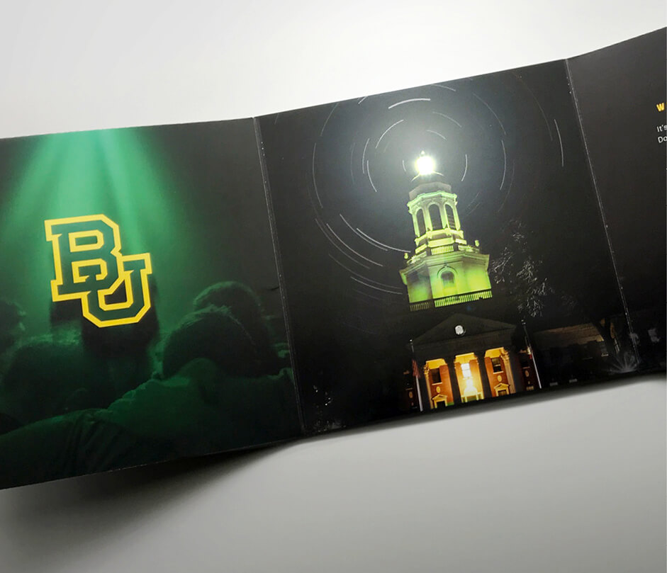 Baylor Lights Shine Bright mailer detail