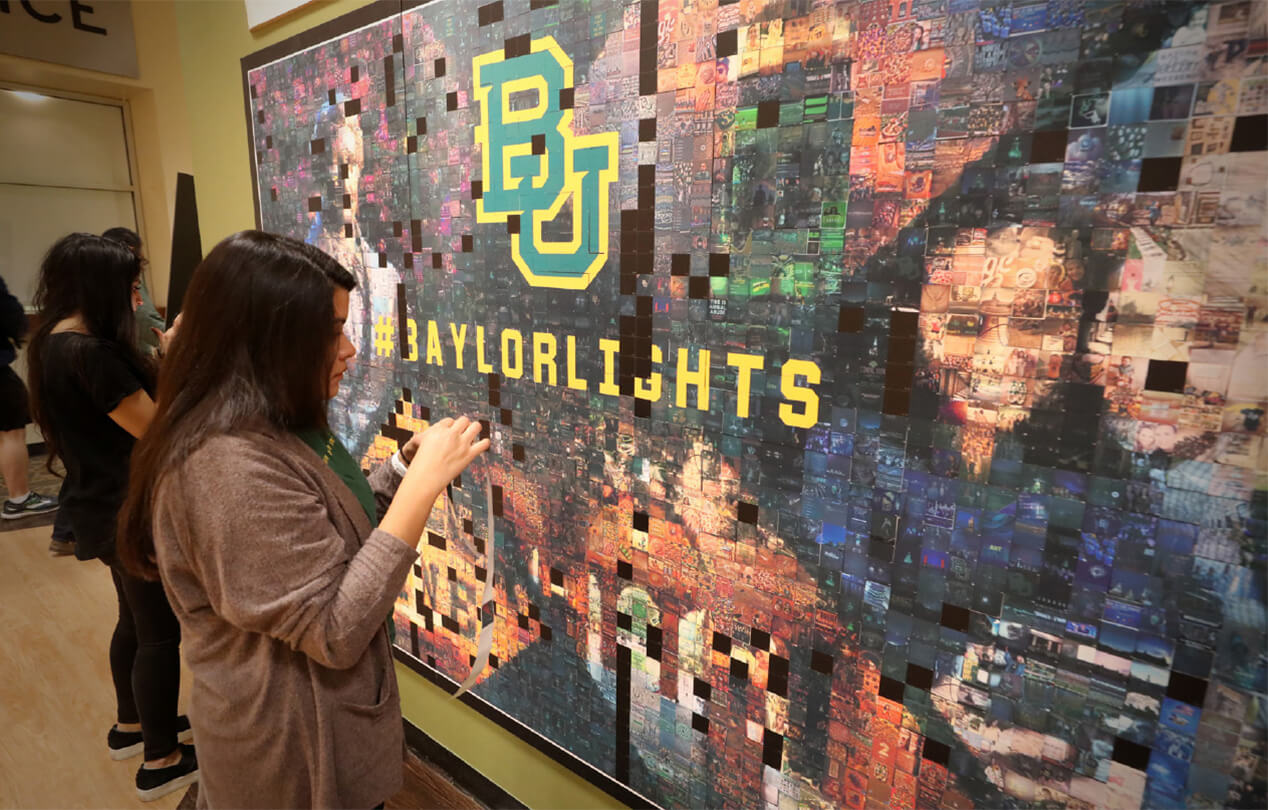 Baylor - Lights Shine Bright mosaic