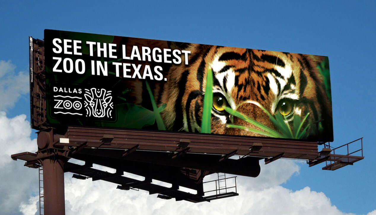 Dallas Zoo tiger billboard