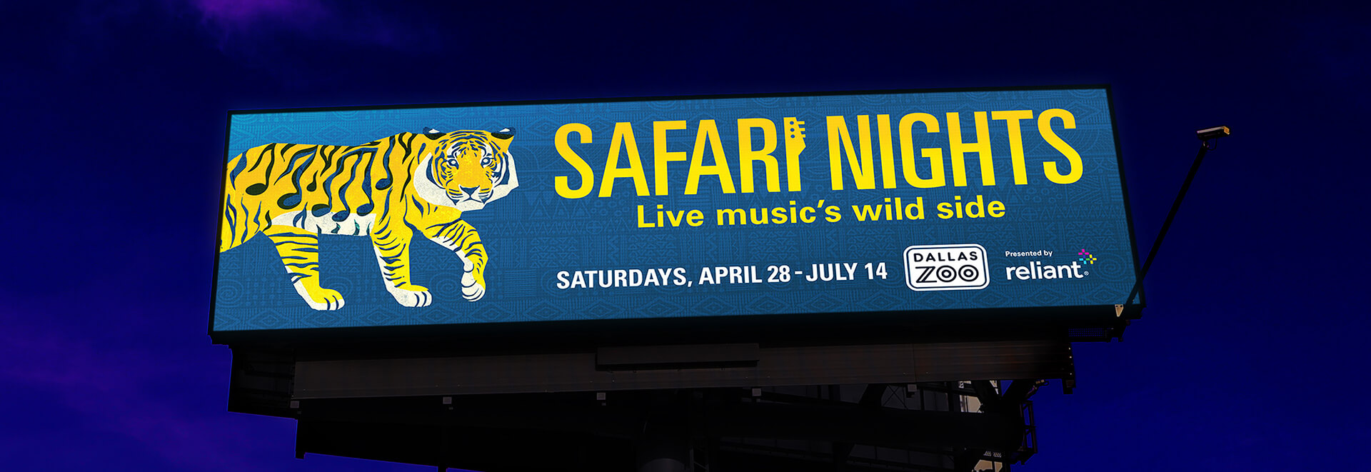 Dallas Zoo Safari Nights billboard