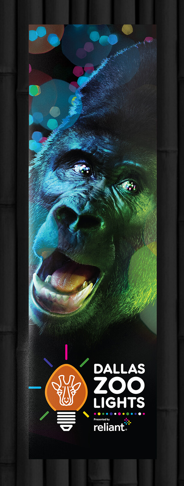 Dallas Zoo - Zoo Lights gorilla banner
