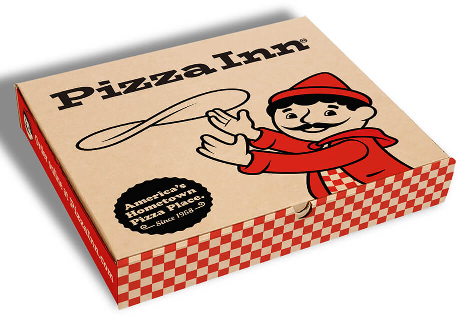 Pizza Inn pizza box