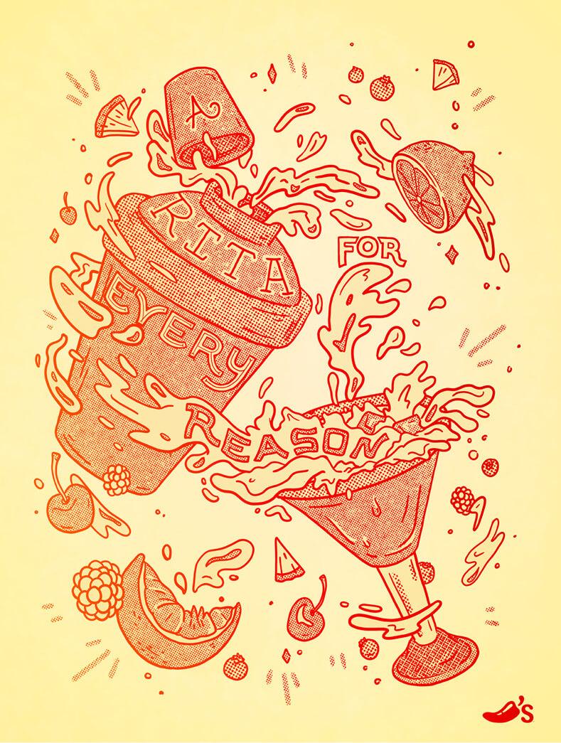 Chili's margarita poster