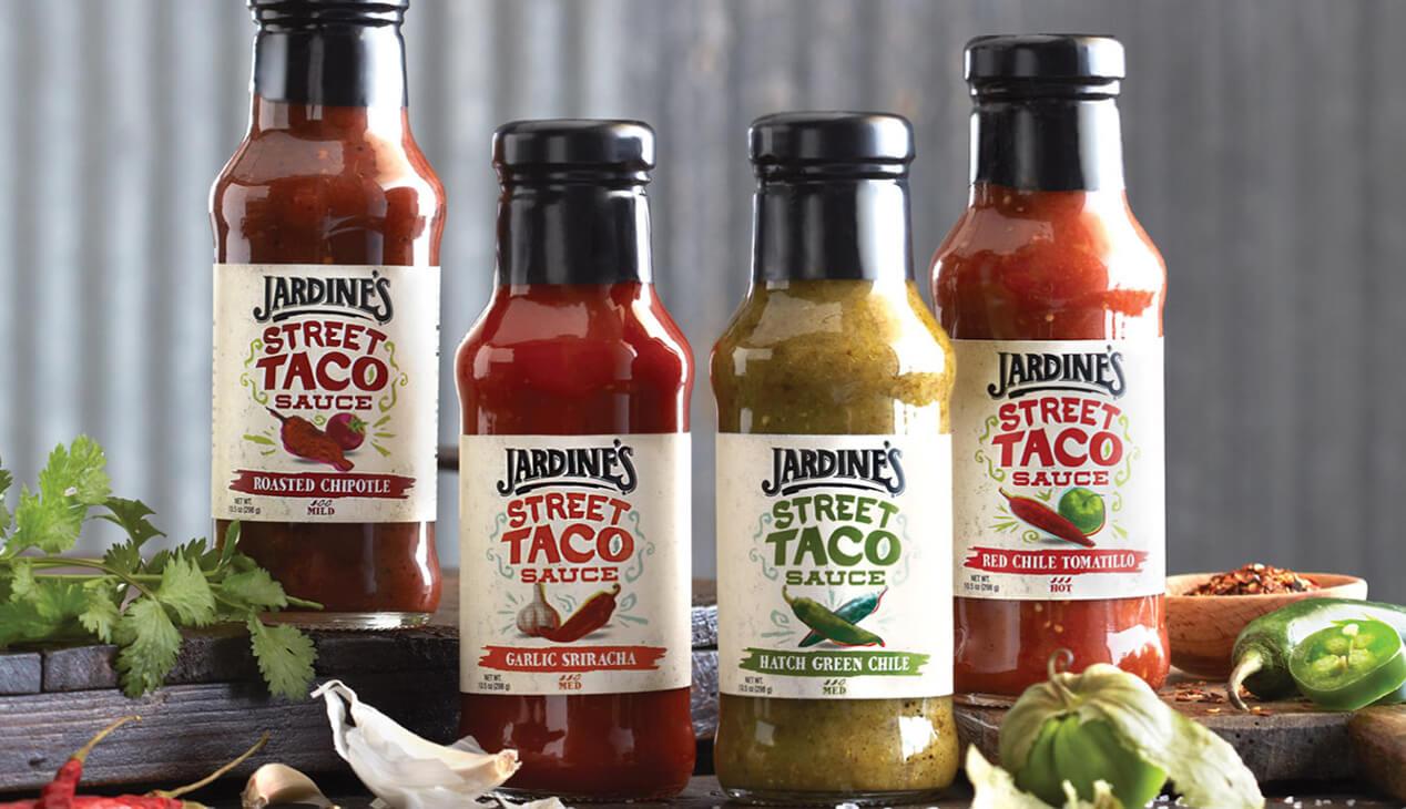Jardine's Street Taco Sauce bottles