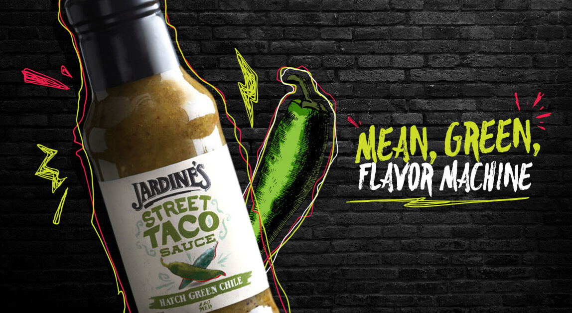 Jardine's Street Taco Sauce - Mean, green, flavor machine
