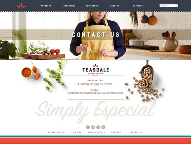 Teasdale website contact