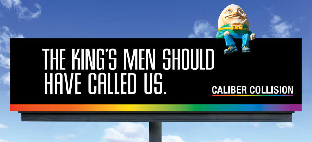 Caliber Collision billboard