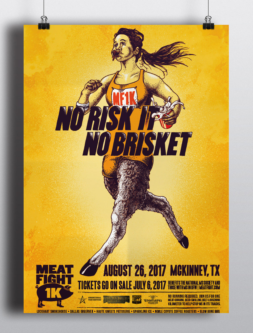MF1K poster - No Risk It No Brisket