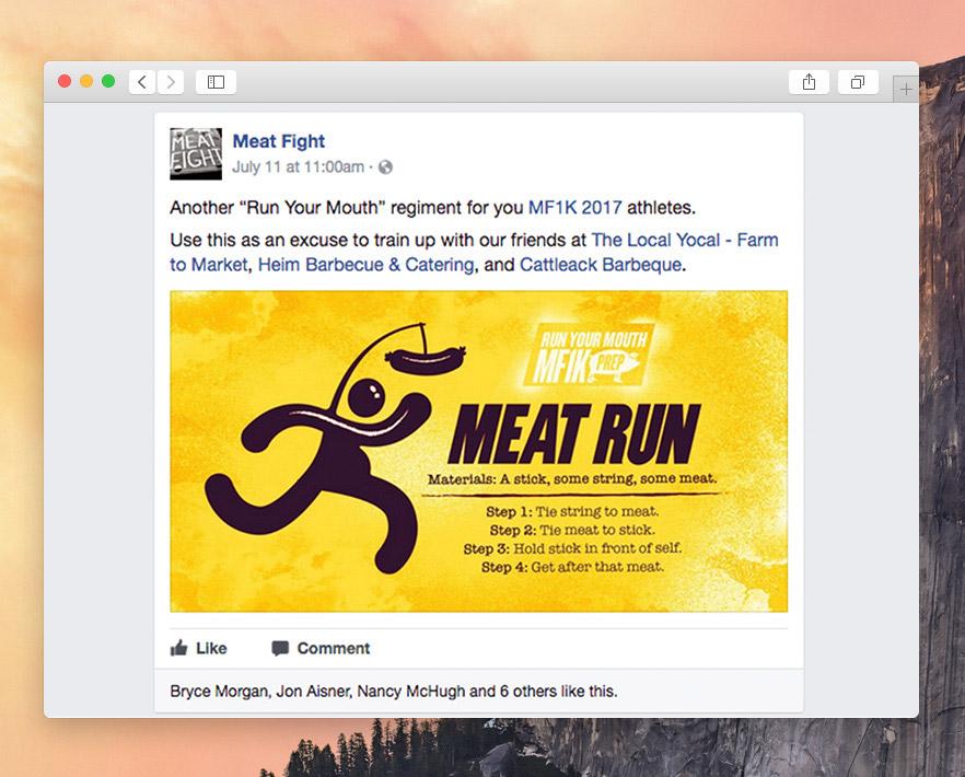Meat Run social