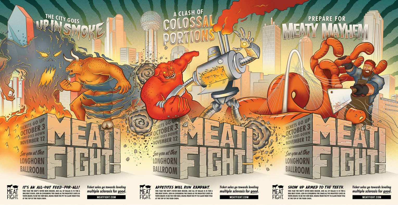 Meat Fight posters