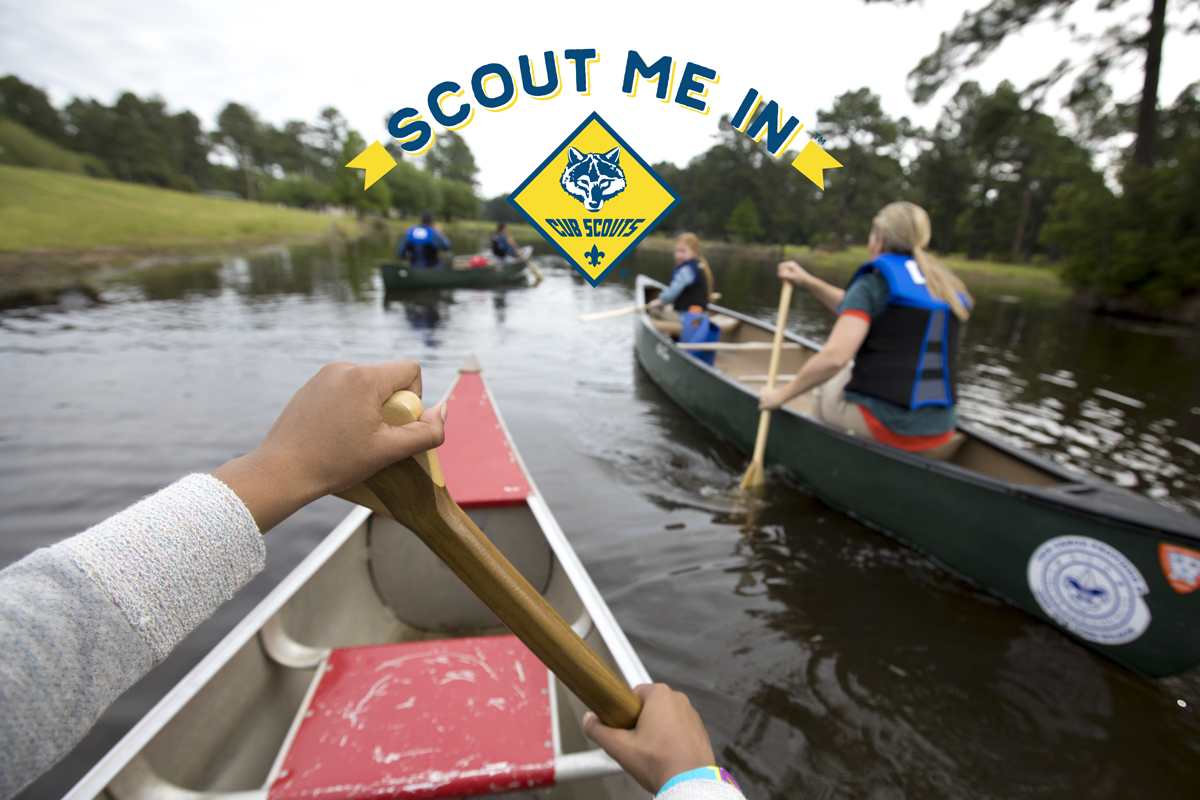 Scout Me In ad campaign - children canoeing