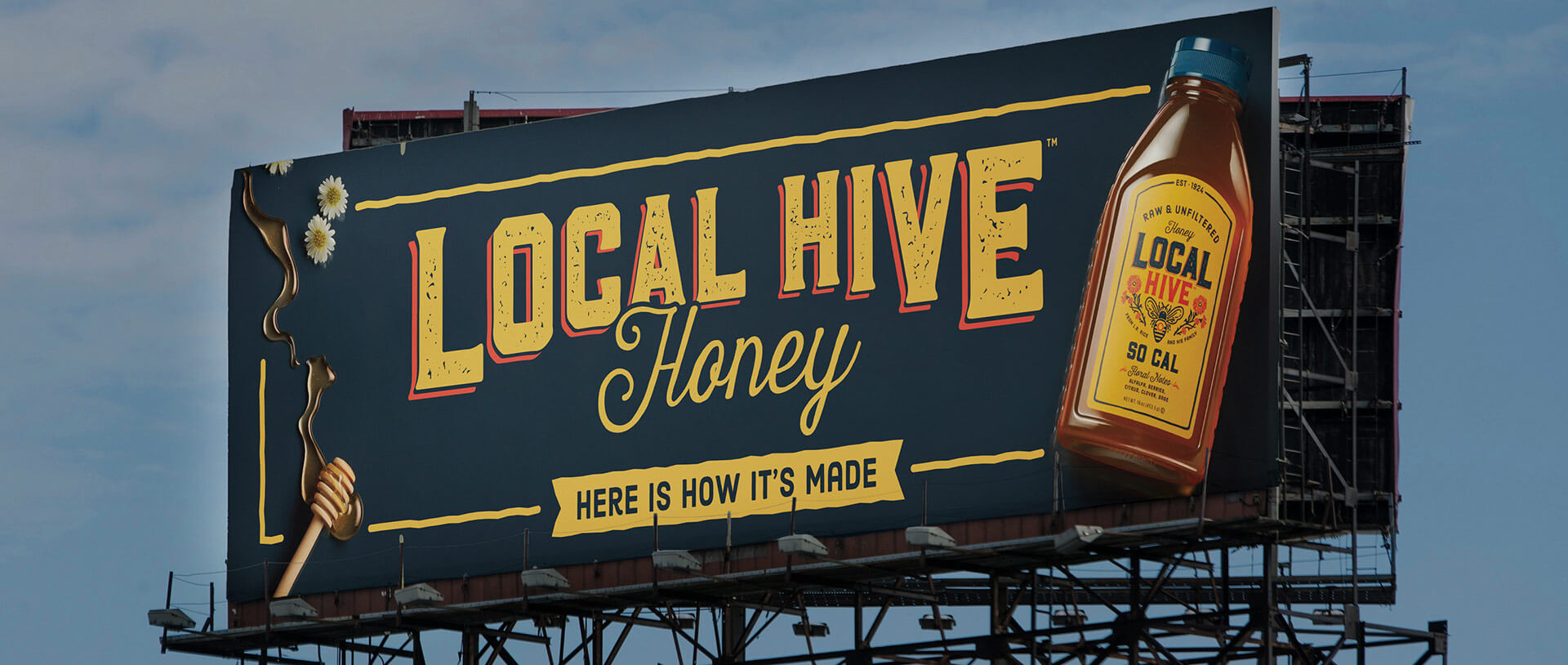 Local Hive Honey billboard